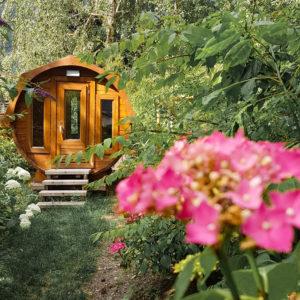 Outdoor forest sauna