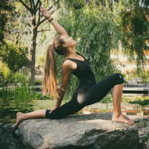 Melanie, our yoga teacher